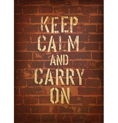 Keep calm brick wall vector