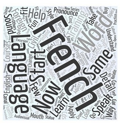 Foreign language training for french word cloud vector