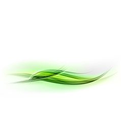 Abstract shape green wave vector
