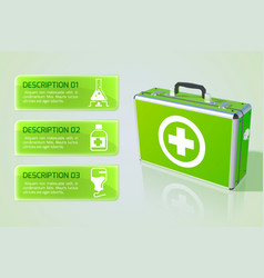 Healthcare infographic concept vector