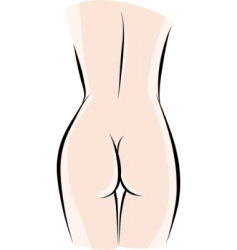 Sketch woman back vector