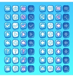 Ice game icons buttons icons interface ui vector