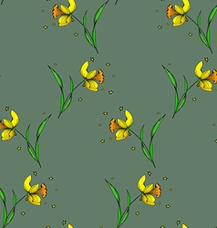 Seamless daffodil pattern2 vector