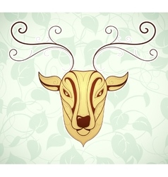 Artistic deer cartoon design vector