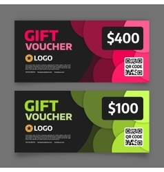 Gift voucher template graphic design vector