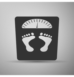 Bathroom scale with footprints icon vector