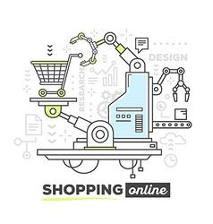 Creative professional mechanism for shopp vector