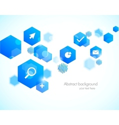 Abstract background with blue hexagons vector