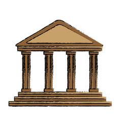Bank building in the style of a classical vector
