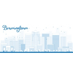 Birmingham outline vector