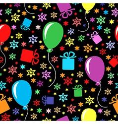 Birthday multicolor pattern vector