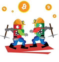 bitcoin green powerful vector image vector image