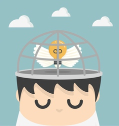 Business ideas in the cage vector
