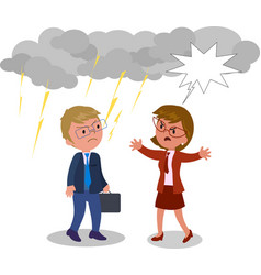 business man and woman arguing vector image