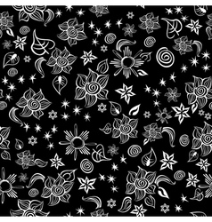 Contrast line art pattern vector