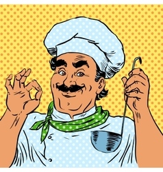 cook kitchen food quality restaurant chef vector image