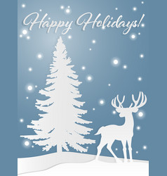 deer on the hill vector image