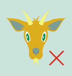 flat goat animal farm icon vector image vector image