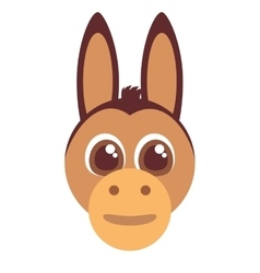 funny donkey face isolated icon vector image vector image