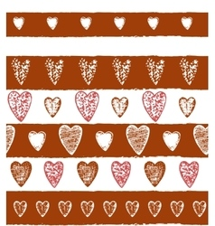 graphic heart background vector image vector image