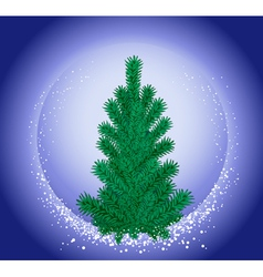 hristmas tree vector image vector image