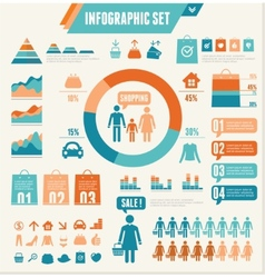 Infographics Elements Shopping vector image