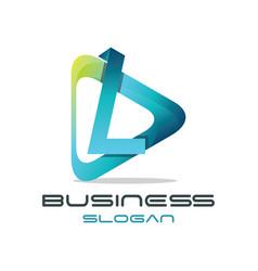 letter l media logo vector image
