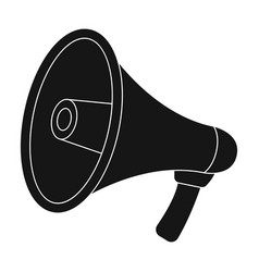 megaphone icon in black style isolated on white vector image