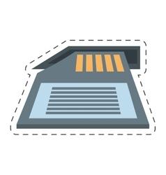 Memory sd card back icon vector