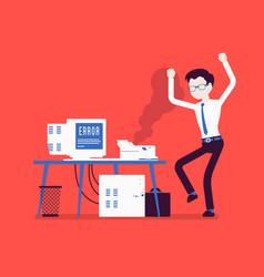 Office printer error vector