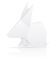 Origami paper rabbit vector