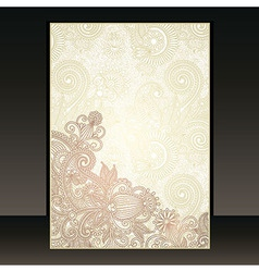 ornate flower background vector image