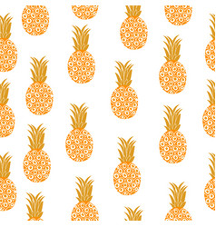 Pineapple seamless texture pineapple background vector