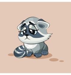 Raccoon cub sad vector