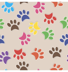 Seamless background with footprint of cat and dog vector image