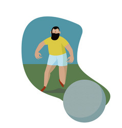 soccer action player running with the ball vector image