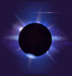 Solar eclipse astronomical phenomenon - full sun vector
