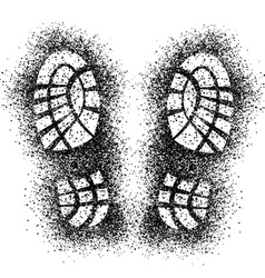 Spray shoe imprints vector