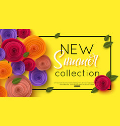 Summer fashion shopping banner template vector