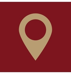 The pointer icon navigation and location symbol vector