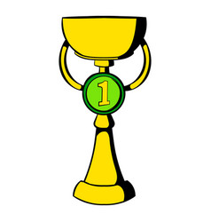 trophy cup icon icon cartoon vector image