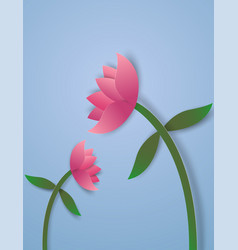 Wilted flowers paper art style vector