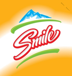 Smile hand lettering vector