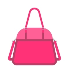 Pink handbag fashion woman vector image