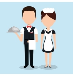 Room service hotel isolated icon vector