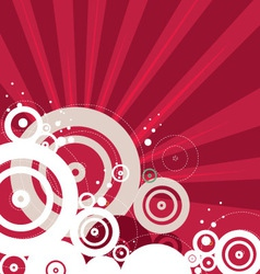Retro red background vector