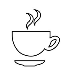 Coffee cup silhouette isolated icon vector