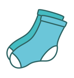 Socks hanging in the laundry vector