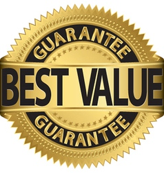 Best value guarantee gold label vector image