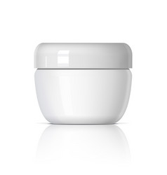 Realistic cosmetic jar on a white background vector